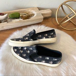 Coach floral slip ons